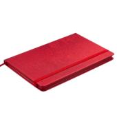 Деловой блокнот Buromax Ingot (125x195 мм) в клетку с обложкой из искусственной кожи 80 л. Красный (BM.29912103-05)