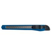 Нож канцелярский Buromax Jobmax с пластиковым корпусом и шириной лезвия 9 мм 130х15х6 мм Синий (BM.4635)