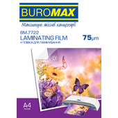 Пленка для ламинирования глянцевая Buromax 216х303 мм (А4), 75 мкн, 100 шт (BM.7722)