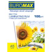 Пленка для ламинирования глянцевая Buromax 154х216 мм (А5), 100 мкн, 100 шт (BM.7754)