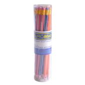 Карандаш графитовый Buromax White Line HB с ластиком (BM.8503-20)