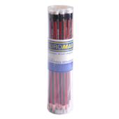 Карандаш графитовый Buromax Orange Line НВ трехгранный с ластиком (BM.8511-20)