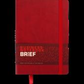 Блокнот деловой Buromax Brief, А5, 96 стр., красный, линия (BM.295204-05)