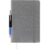 Блокнот деловой Buromax CODE, L2U, А5, 96 л., нелинов., серый, иск.кожа (BM.295006-09)