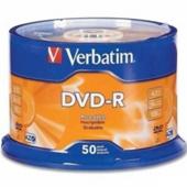 Диск DVD-R Verbatim, 4.7 Gb,16 х, Wrapped Matt Silver, Srink (50) (d.43791)