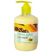 Крем-мыло Fresh Juice Papaya, с увлажняющим молочком авокадо, 460 мл (e.14591)
