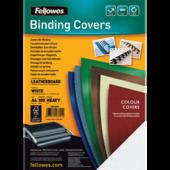 Обложки картонные Fellowes Delta, под кожу, белые, А4, 250 г/м2, 100 шт. (f.53701)