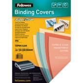 Обложки пластиковые бесцветные Fellowes, А4, 200 мкм, 100 шт (f.53761)