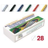 Пружины пластиковые D&A 28 мм 50 шт желтые (1220201280206)