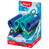 Ножницы детские Maped KidiPulse, 120мм, дисплей, сине-голубой (MP.472112)