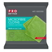 Салфетки из микрофибры PRO Service универсальные 38 х 38 3 шт зелёные (pr.18303300)
