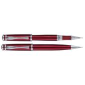 Комплект ручек Regal (шариковая и роллер) с глянцевым лакированным корпусом красного цвета в подарочном футляре (R21501.L.RB)