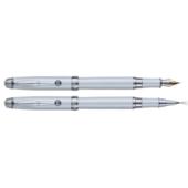 Комплект ручек Regal (перьевая и роллер) с перламутровым белым корпусом в подарочном футляре (R502407.L.FR)