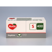 Целлюлозные салфетки Ruta Professional S белые 24х24 см 400 листов (rt.93691)