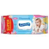 Салфетки Superfresh Baby chamomile влажные с клапаном 120 шт  (sr.19010)