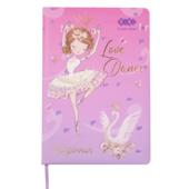 Школьный дневник ZiBi Ballerina В5 48 л. твердая обложка из искусственной кожи Розовый (ZB.13200-10)