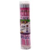 Карандаш графитовый ZiBi Kids Line Flowers HB с ластиком (ZB.2300-20)