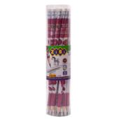 Карандаш графитовый ZiBi, LOVE HB, с ластиком , туба 20шт, KIDS Line (ZB.2301-20)